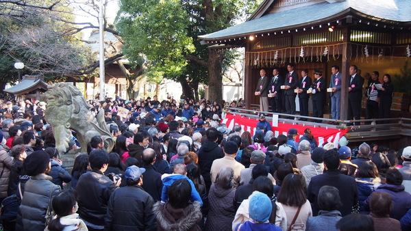 旗岡八幡神社の節分祭